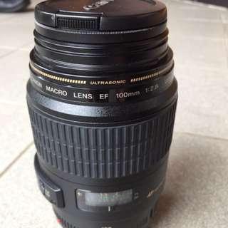 Lensa Canon Macro EF 100mm 1:2.8 USM