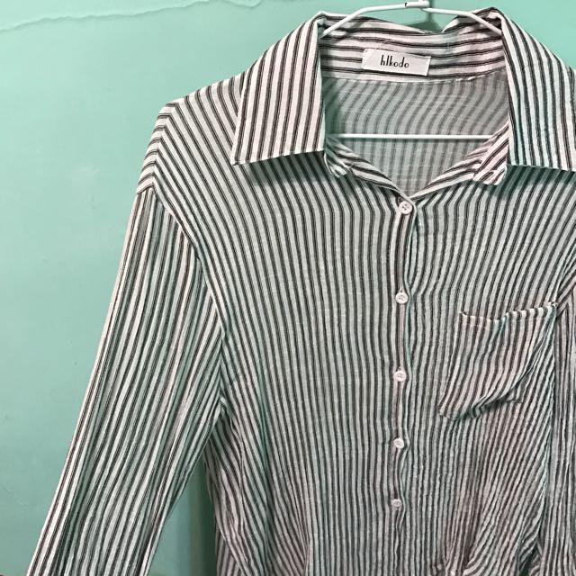 彈性條紋薄襯衫#200元襯衫