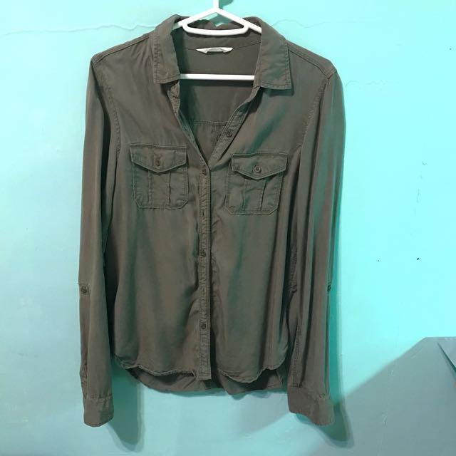 NET天絲棉軍綠色襯衫#200元襯衫