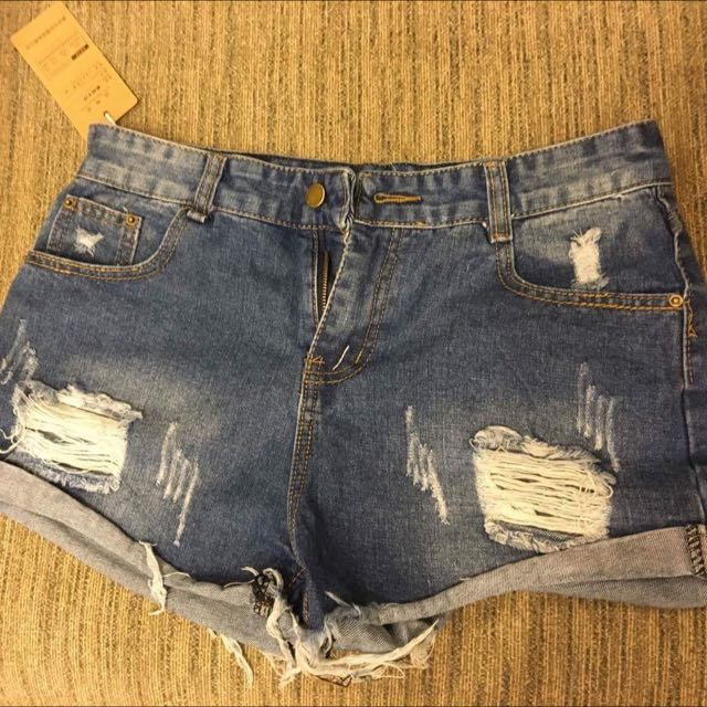 降售 含運 夏季牛仔短褲刷破