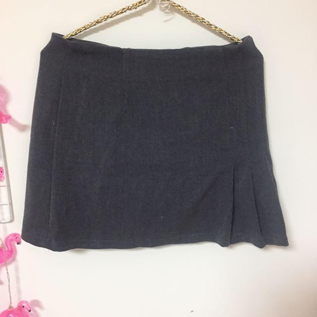 韓國 側邊百褶短裙