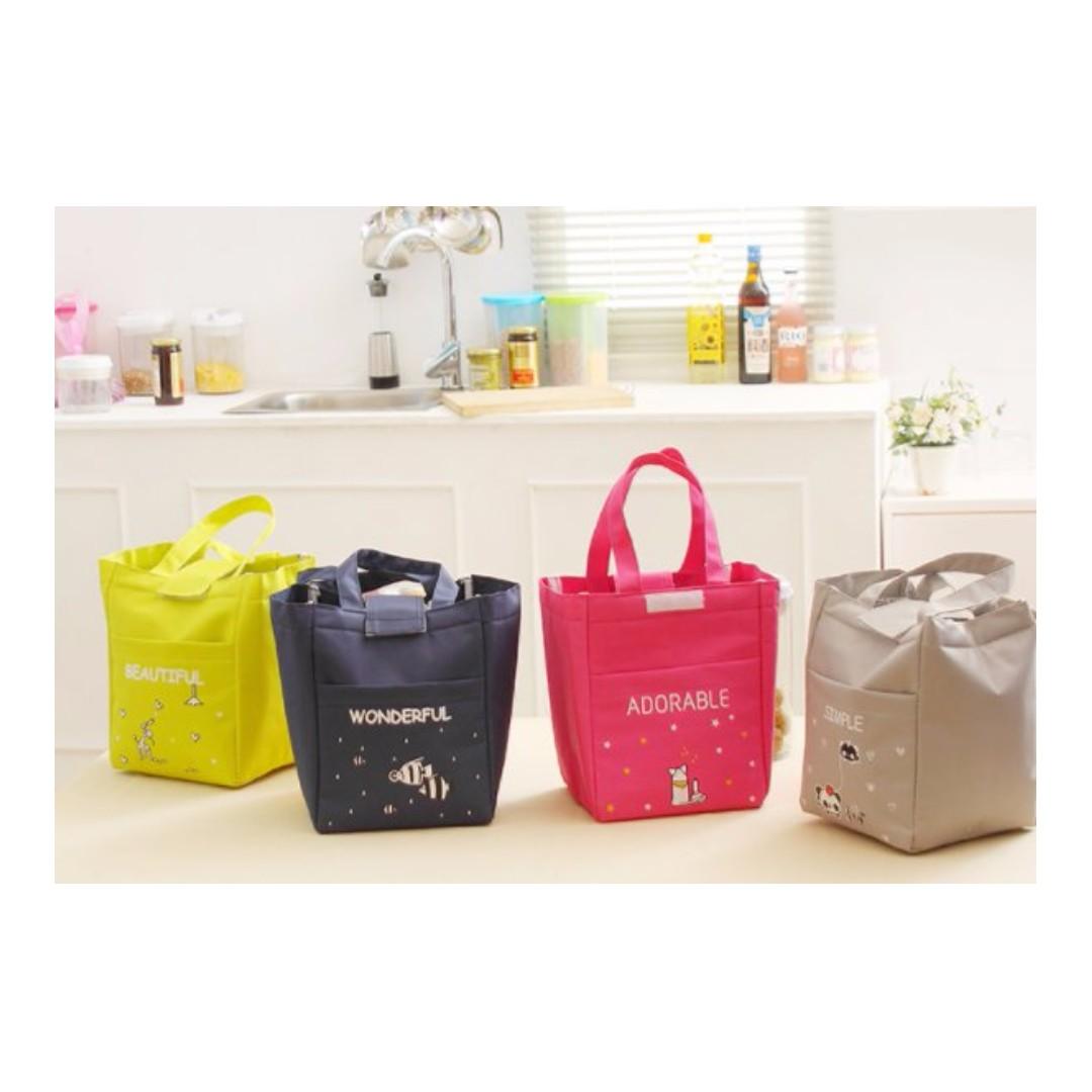 時尚卡通 加厚保溫包 便當袋 保鮮手提包 手提袋#Y164