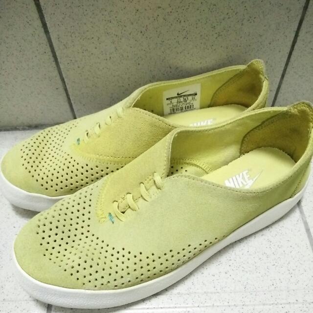 8成新 專櫃 正品 NIKE 休閒鞋~芥末黃(23公分)
