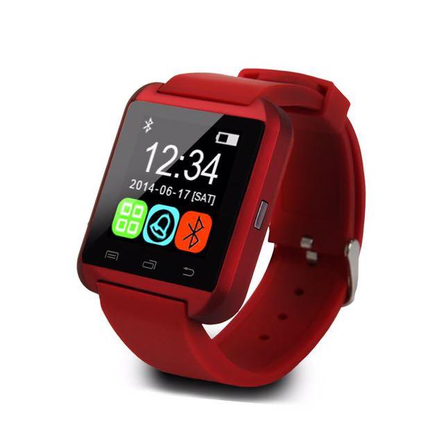 ✨現貨✨全新 Smart Watch U9藍芽手錶 紅色款 可支援Android系統