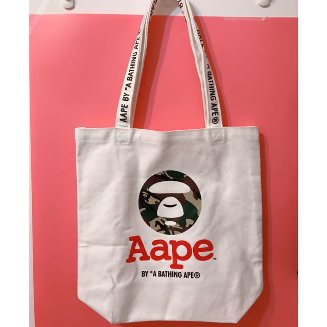 Aape 迷彩猿人頭 帆布購物袋 購物包