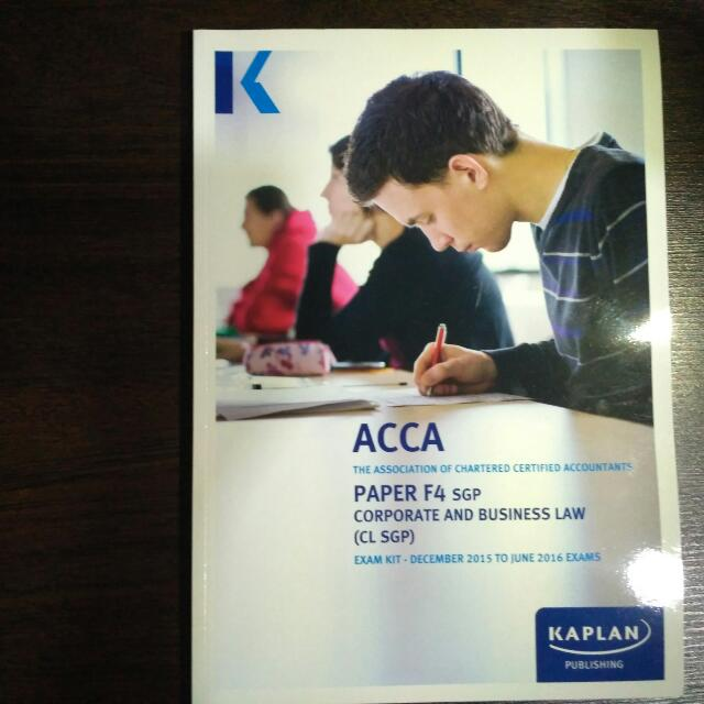 ACCA F4 Full Set Kaplan Lecture Note + Softcopy + Exam Kit