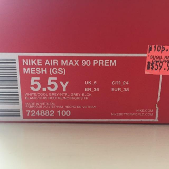 AIR MAX 90 PREM MESH SIZE 7