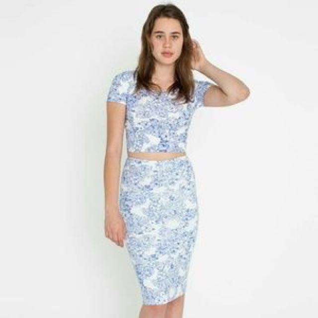 American Apparel Floral Two Piece Set