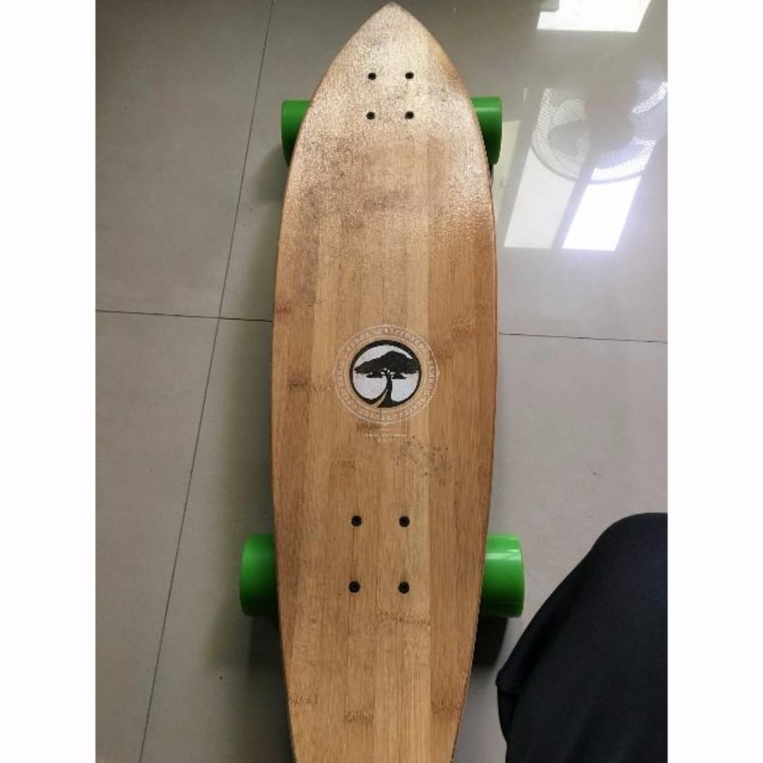 Arbor GB Sizzler Bamboo Mini-Longboard 復古迷你長板