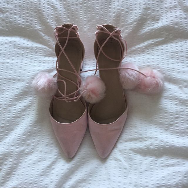 ASOS Pale Pink Lace Up Shoes