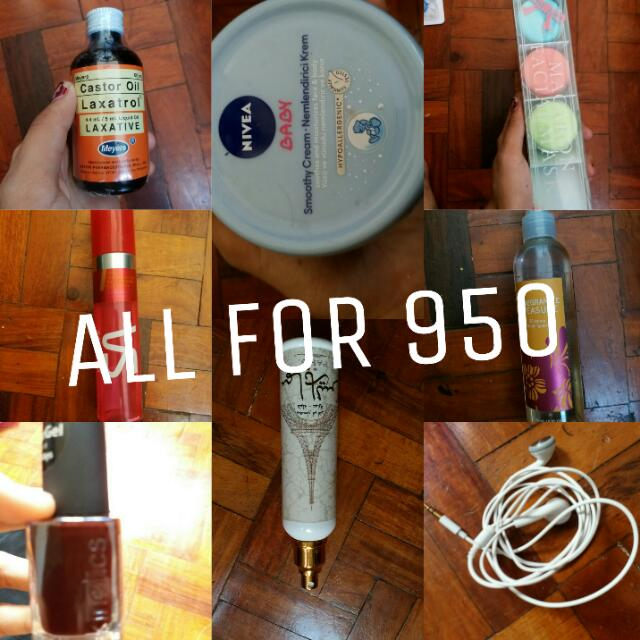 Assorted items. Perfume, lotion, and more