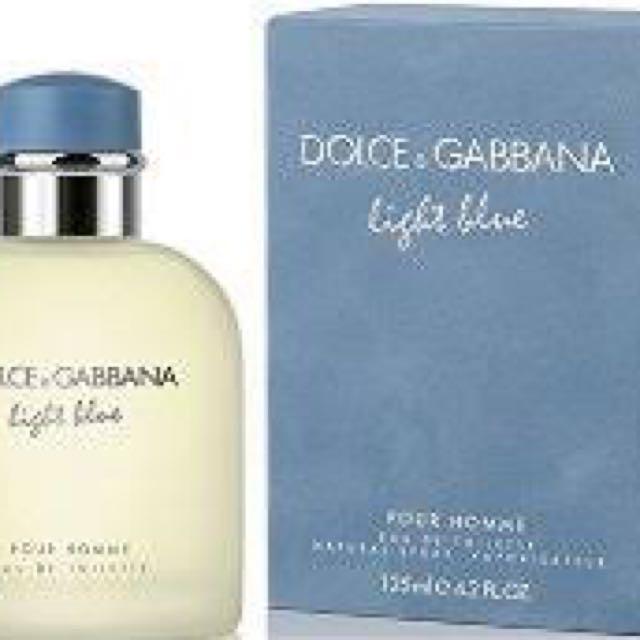 Authentic D & G Light Blue For Men