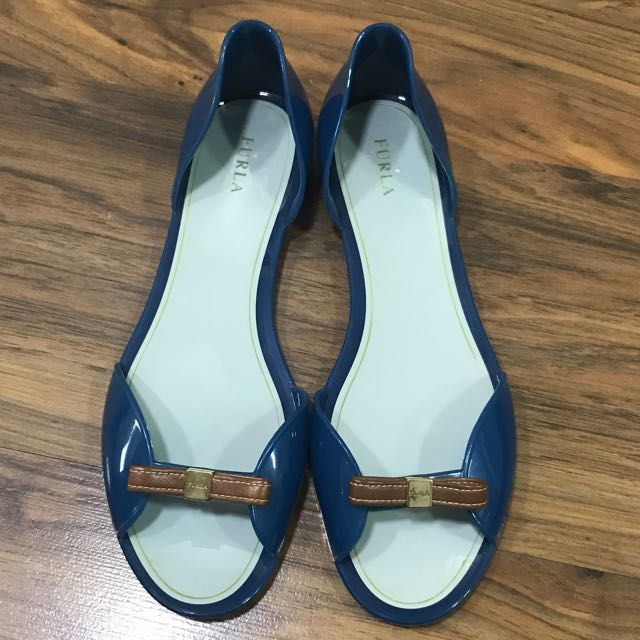 Authentic furla Jelly Slip Ons