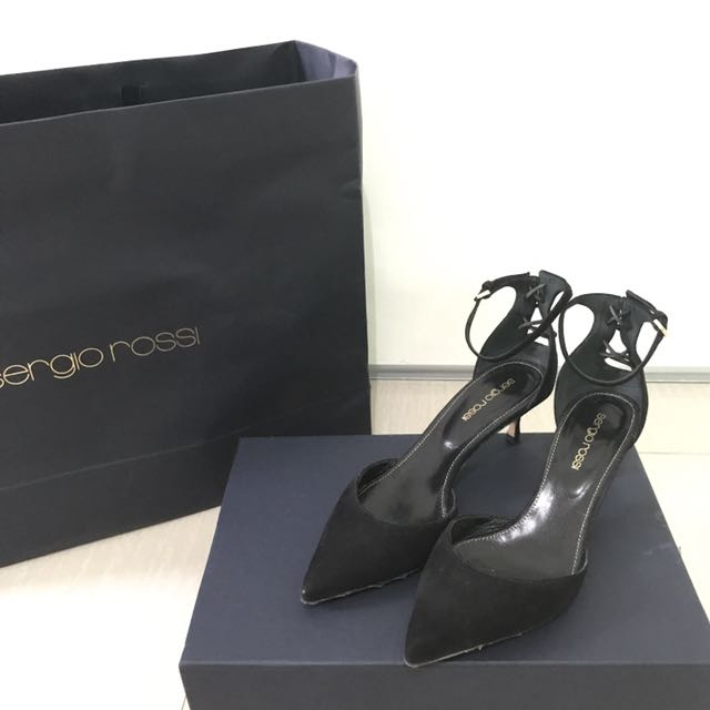 Authentic Sergio Rossi Black Kitten Heels