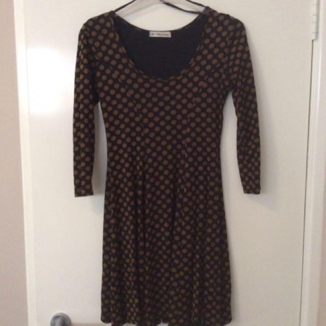 Black and Brown Dress