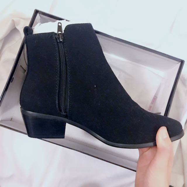 Black Ankle Heeled Boots