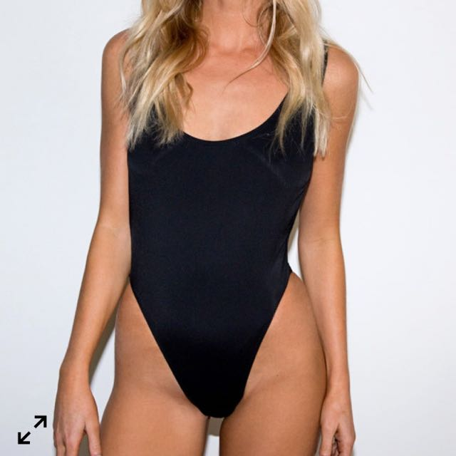 Black One Piece Swimmers