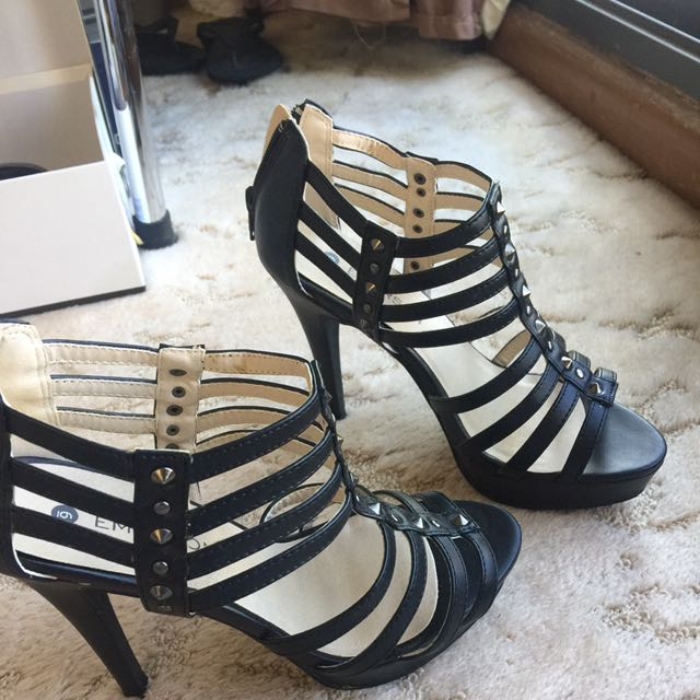 Black Strap Heels #EOFYSALE