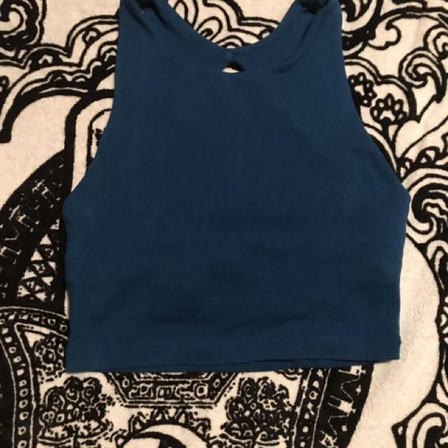 Blue Kookai Cropped Top