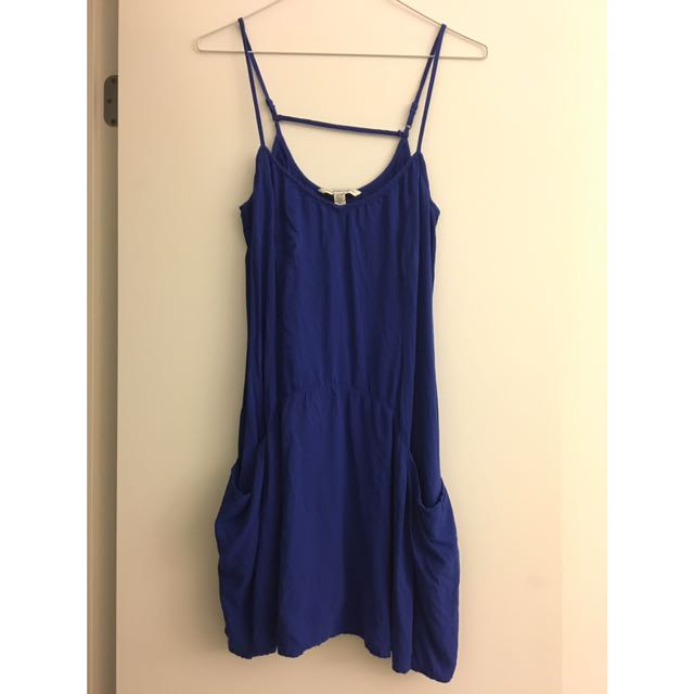 Blue Summer Dress - Perfect For Jays Games!!!