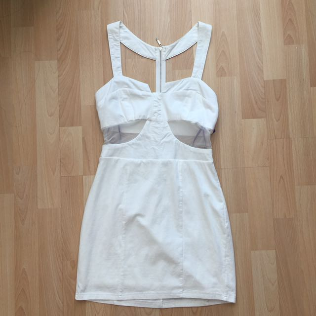BNWT White Cutout Mesh Dress