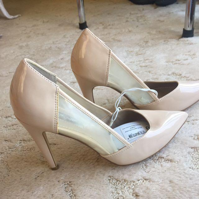 Brand New Beige Clear Heels #EOFYSALE