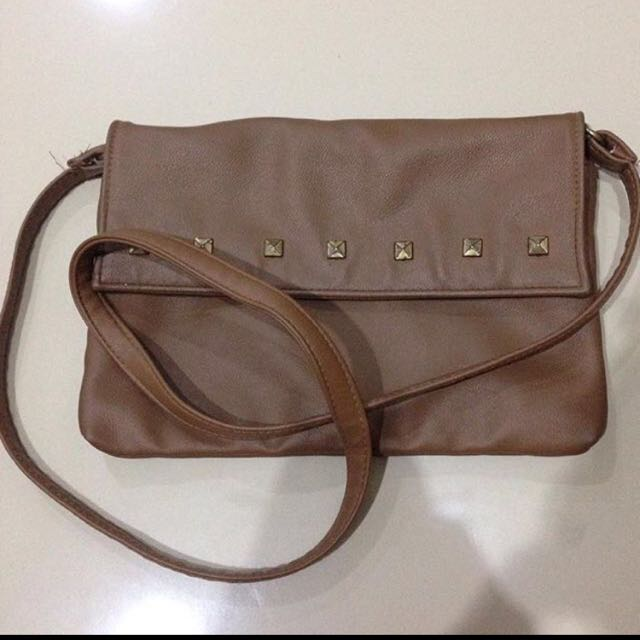 Brown Sling Bag Tas Selempang Cokelat