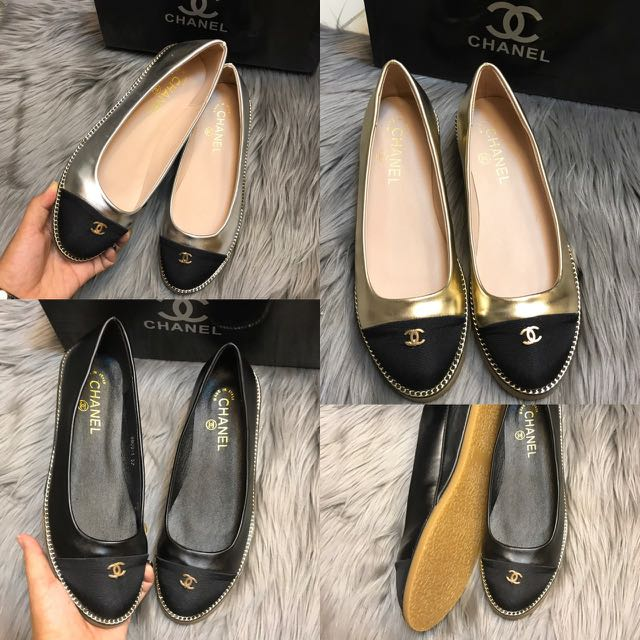 Channel Flat Shoes