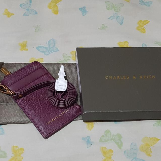 Charles and Keith  Card and ID Holder With Lanyard