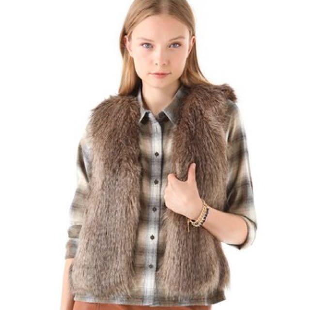 "CLUB MONACO ""Matilda"" Faux Fur Vest"