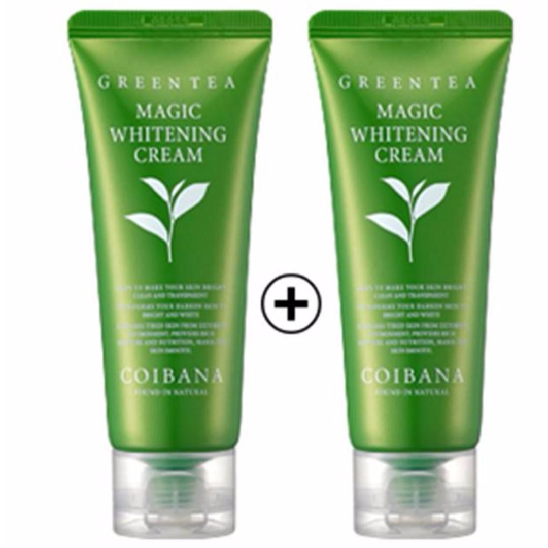 Buy 1 Get 1 FREE] Coibana Green Tea Magic Whitening Cream