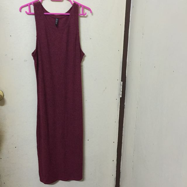 Cotton On Long Dress (Dark Red)