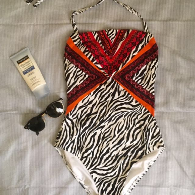 Debenhams Tribal Zebra Print Swimsuit