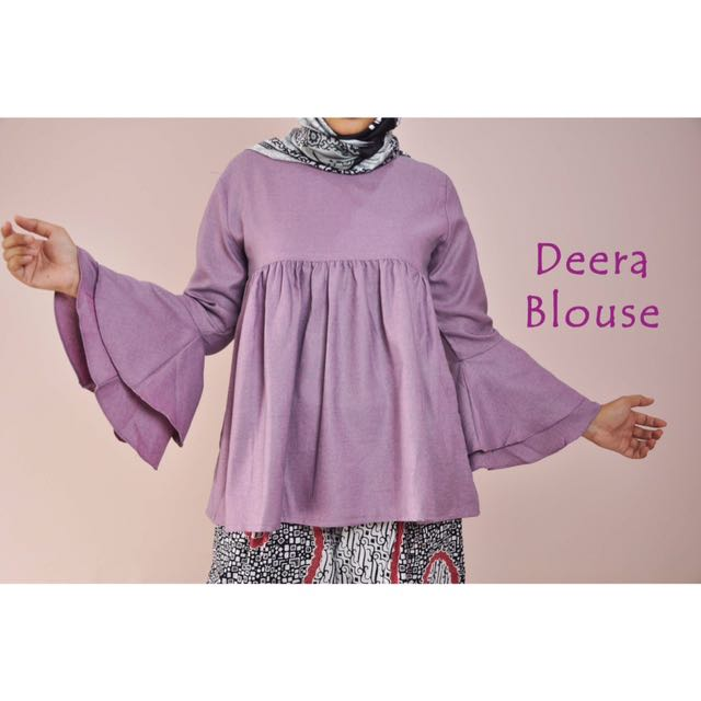 Deera Blouse (Purple) [swipe for more details]