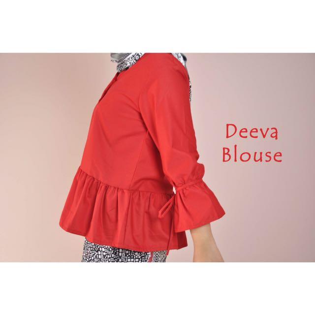 Deeva Blouse (Red) [swipe for more details]