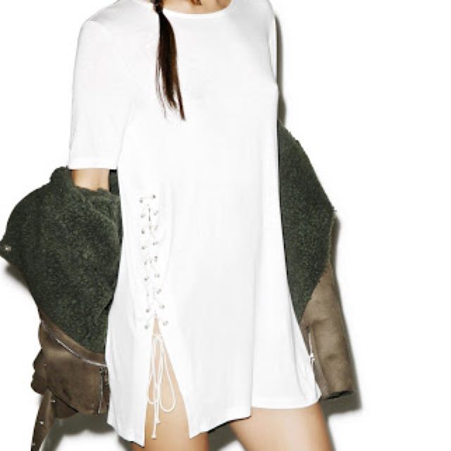 Dollskill Fade Out Lace Up Tee