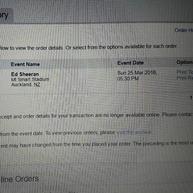 Ed Sheeran Tickets X 1