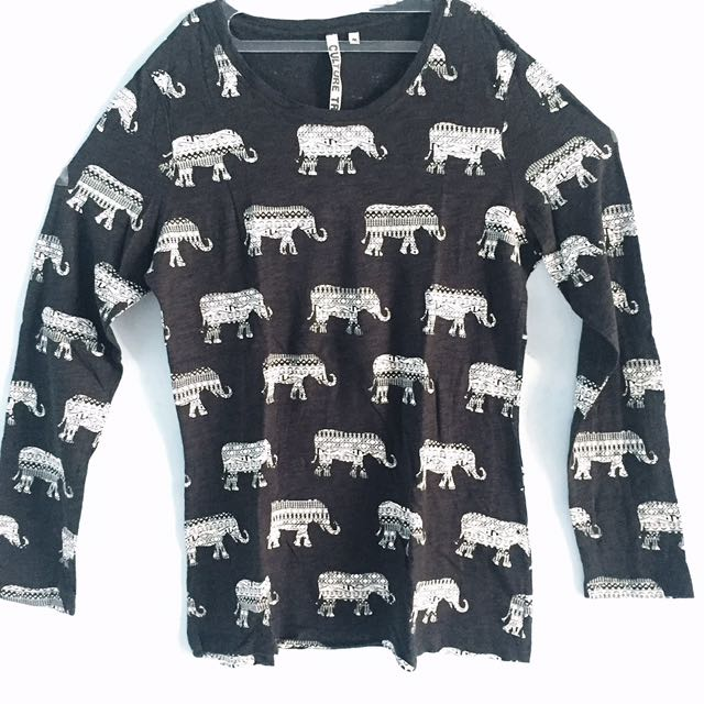 Elephant Black Top