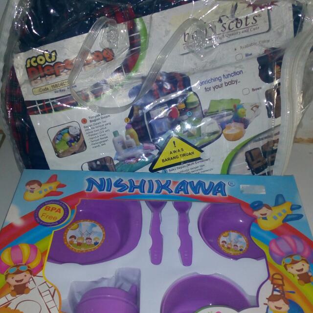 Ex Kado Diapers Bag Baby Scotts + Nishikawa