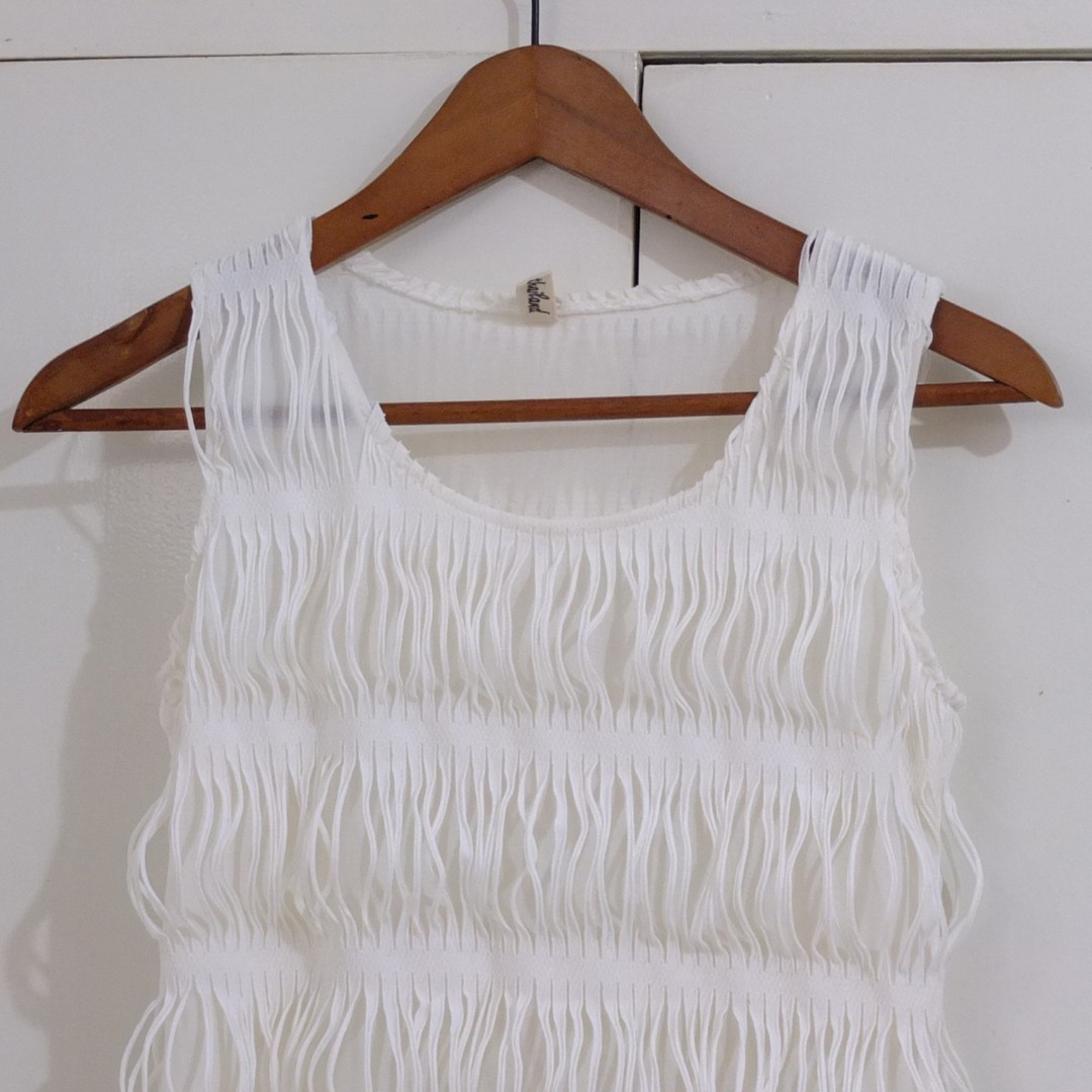 Flapper Style White Cocktail Formal Dress Cute Top