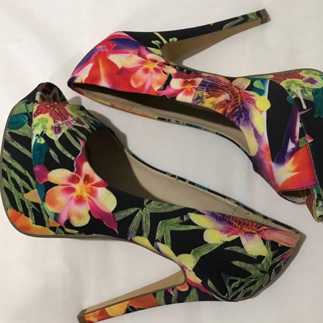 Floral Novo Heels