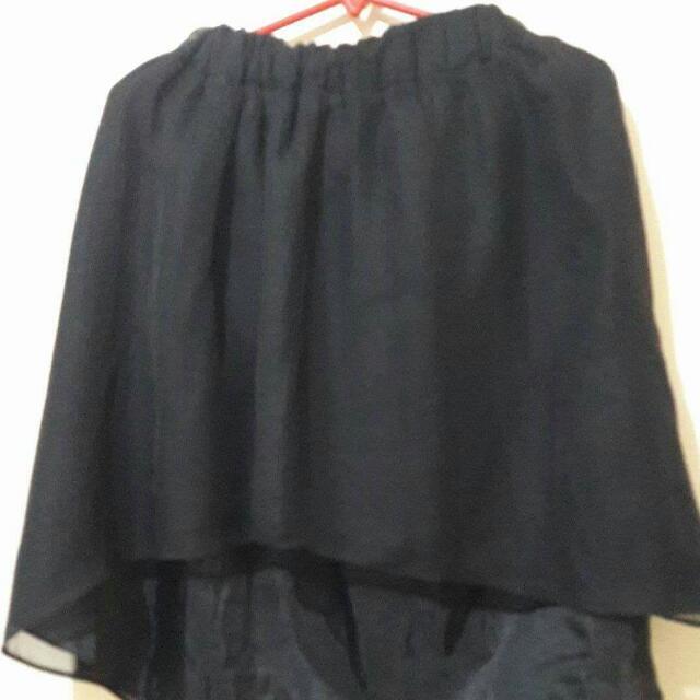 Forme Chiffon Long Back Skirt