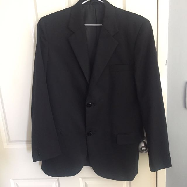 Fred Bracks Black Suit with Pants