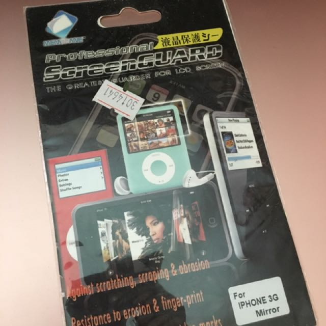 FREE IPHONE APPLE MIRROR SCREEN PROTECTOR 3G