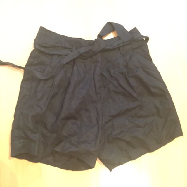 French Connection Paper Bag High Waist Shorts