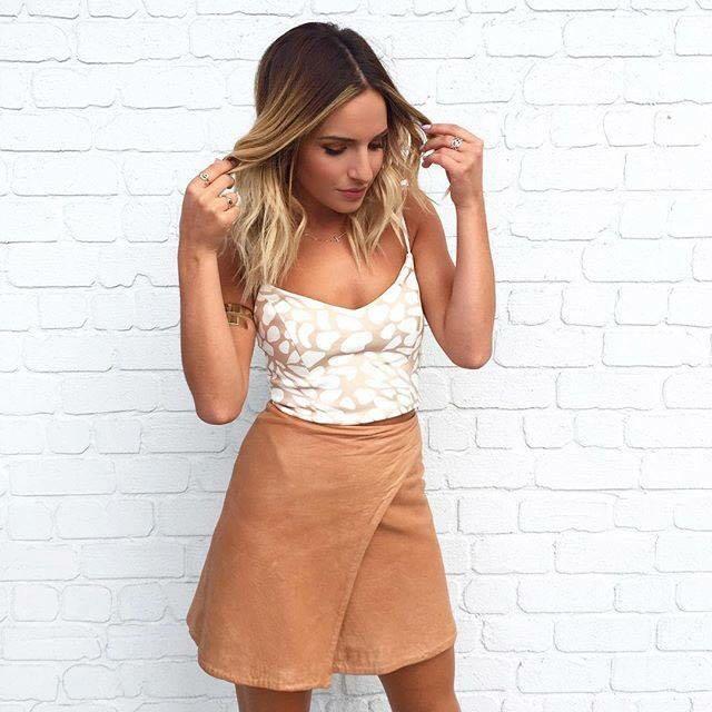 Kookai Asha Real leather Skirt