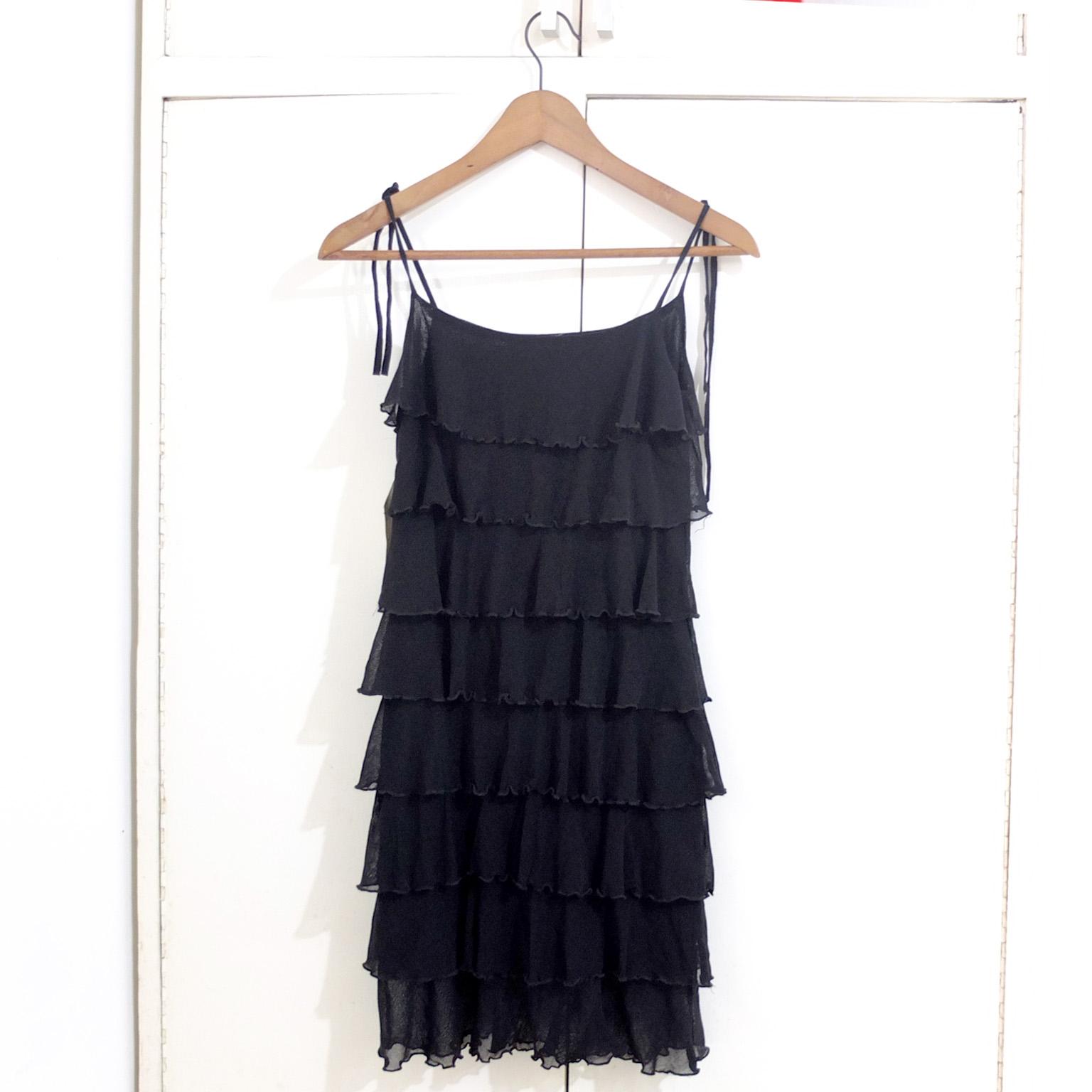 Layered Little Black Cocktail Formal Dress