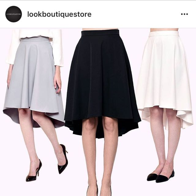 Lookboutique Store Skirt In Gray