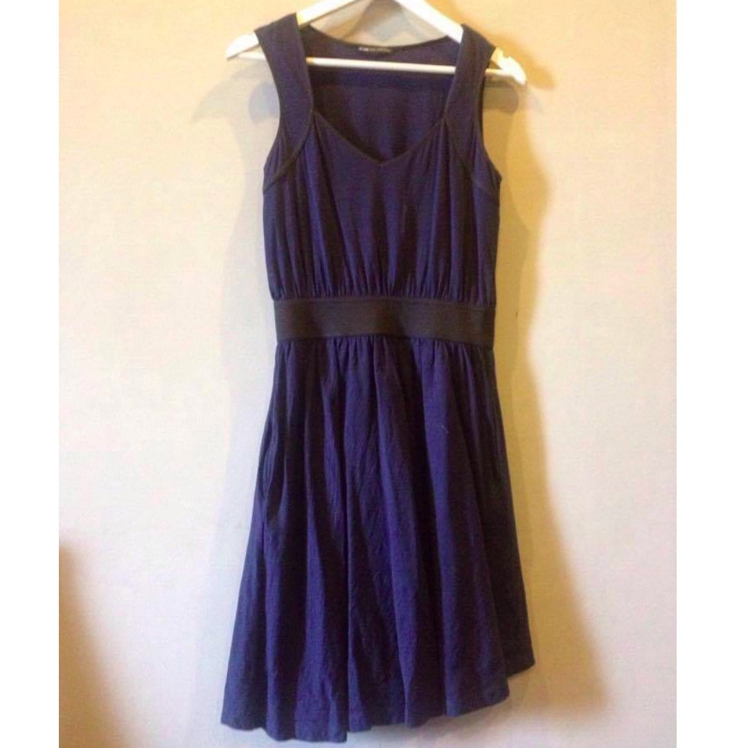 Mango Casual Sportswear Navy Blue Dress