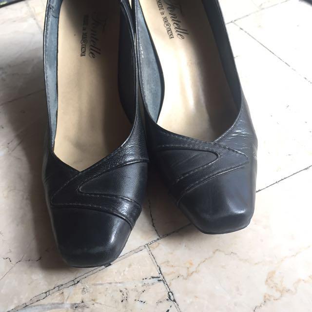 Marikina Made Leather Black Heels